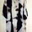 เสื้อคลุมแฟชั่นตัวยาวแขนสามส่วนทรงปล่อยผ้าซีฟองใส่สบายพริ้วๆโทนสีดำเทานะคะ thumbnail 3
