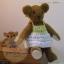 ตุ๊กตาหมีผ้าขนสั้นสีน้ำตาลขนาด 12 cm. - flower01 thumbnail 4