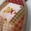 กระเป๋าผ้า patchwork ใส่เหรียญรูปหัวใจลายหน้าหมี thumbnail 5