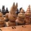 ชุดกระดานหมากรุกไทยไม้ก้ามปูพกพาพร้อมตัวหมากชุดใหญ่ (ขนาด38.5x42 cm) thumbnail 2