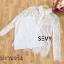 เสื้อเชิ้ตคอปกผ้าลูกไม้สีขาว thumbnail 7