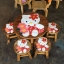 ลายคิตตี้ ถือช่อดอกไม้ รุ่นไม่มีพนักพิง โต๊ะ ขนาด 18*20 นิ้ว จำนวน 1 ตัว เก้าอี้ ขนาด 10*10 นิ้ว จำนวน 4 ตัว ผลิตจากไม้จามจุรีแท้ ไม่ใช่ไม้อัด รับน้ำหนักได้ถึง 70 กก. thumbnail 1