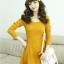 ชุดเดรสแฟชั่นเกาหลีแขนยาวสีพื้นมี2สีนะค่ะ thumbnail 6
