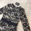 dress. ลูกไม้ดำซับสีเนื้อ แขนยาว thumbnail 5