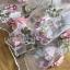เดรสผ้าทูลเลปักดอกไม้กุหลาบสีชมพูทับลูกไม้สีชมพู thumbnail 6