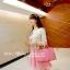 ชุดเดรสเกาะอกสีชมพูหวาน+เสื้อคลุมเข้าชุดกัน มีไซส์ S thumbnail 8