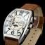 นาฬิกาข้อมือหน้าปัดสี่เหลี่ยม ระบบออโตเมติกและฟังชั่น MoonPhase สายหนังสีน้ำตาล (พร้อมส่ง)