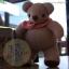 ตุ๊กตาหมีผ้าขูดขนสีน้ำตาลขนาด 9.5 cm. - Niza thumbnail 2