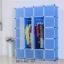 ตู้ DIY ลายเส้นสีขาว ข้างตู้สีฟ้า ขนาดช่องละ 37x37 ซม. รับน้ำหนักได้ช่องละประมาณ 10-15 กิโลกรัม (ขนาด 12 และ 16 แถมชั้นวางรองเท้า) thumbnail 1
