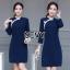 Dress คอจีน ทรงสวยเนื้อผ้าคอตตอนผสมโพลีเอสเตอร์ thumbnail 4