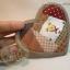 กระเป๋าผ้า patchwork ใส่เหรียญรูปหัวใจลายหน้าหมี thumbnail 4