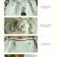 กระเป๋าสะพายสีขาวปากกระเป๋าแบบสายรูดพร้อมกระเป๋าใบเล็ก thumbnail 4