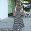 Dress ลายขวางขาวดำ การเย็บประณีต ดีเทลแขนกุด thumbnail 3