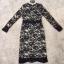 dress. ลูกไม้ดำซับสีเนื้อ แขนยาว thumbnail 4