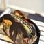 กระเป๋าสะพายแฟชั่นใบเล็กลายดอกไม้โทนสีดำ thumbnail 4