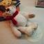 ตุ๊กตาหมีผ้าขนสีขาวขนาด 12 cm. - Bess thumbnail 3
