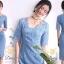 ชุดเดรสผ้าลูกไม้สีฟ้า thumbnail 3