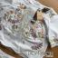 เซ็ตเสื้อและกางเกงผ้าคอตตอนปักลายดอกไม้ thumbnail 5