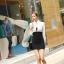 เดรสแฟชั่นเกาหลีเสื้อแขนยาวคอปก สีขาว+ตัวชุดด้านในเสื้อแขนกุดเข้ารูปสีดำ สินค้าตามแบบคะ thumbnail 3