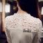 ชุดเดรสลูกไม้ Korea Designedชายกระโปรงมีระบาย thumbnail 4