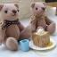 ตุ๊กตาหมีผ้าขูดขนสีโอวัลติน ขนาด 9 cm. - Good thumbnail 2