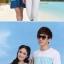 พร้อมส่ง ชุดคู่น่ารักๆ ผู้หญิง-เดรสสีฟ้าขาว / ผู้ชาย-เสื้อทีเชิ๊ตคอกลม thumbnail 3