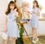 มินิเดรสผ้าลูกไม้ทับเครปสีฟ้าอ่อนสไตล์เบบี้ดอล thumbnail 3