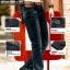 กางเกงยีนส์สีดำแฟชั่นเท่ห์ๆ thumbnail 2