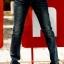กางเกงยีนส์สีดำแฟชั่นเท่ห์ๆ thumbnail 3