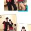 ชุดคู่รัก สีดำแดง เสื้อคอกลม thumbnail 8