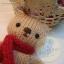 ตุ๊กตาหมีถักขนาด 12 cm. - Olive (red brown) thumbnail 2