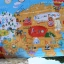 What A World Map Panel Blue thumbnail 2