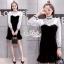 เดรสวินเทจสไตล์สาวเกาหลี เป็นเชิ๊ตเดรสแขนยาว คอสูง สีขาว thumbnail 1