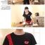 ชุดคู่รัก สีดำแดง เสื้อคอกลม thumbnail 9