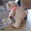 ตุ๊กตาหมีผ้าขูดขนสีน้ำตาลขนาด 9.5 cm. - Niza thumbnail 4