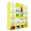 ตู้ DIY ลายการ์ตูน ลิงสีเขียว ข้างตู้มีสีชมพู//ฟ้า//แดง/ขาวใสลายเส้น ขนาดช่องละ 37x37 ซม. รับน้ำหนักได้ช่องละประมาณ 10-15 กิโลกรัม (ขนาด 12 และ 16 แถมชั้นวางรองเท้า) thumbnail 1