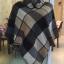 เสื้อโค้ทกันหนาวสไตล์สาวเกาหลี ทรงสามเหลี่ยม เก๋ๆ ลายสก็อต เนื้อผ้าไม่หนามากนะคะ thumbnail 7