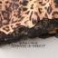 เดรสแฟชั่นเสื้อแขนสั้นลายเสือทรงปล่อยใส่แบบสบายๆ โทนสีน้ำตาล ไซส์ L thumbnail 12