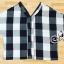 เสื้อคอวีแขนยาว ผ้าทอลายสก๊อตโทนขาวดำ thumbnail 4