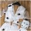 ชุด Maxi dress ลุงเซ็กซี่โชว์เอว ดีเทลแขนเสื้อ 3 ส่วน คอวีลึก เว้าเอว thumbnail 4
