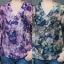 เสื้อชีฟองหางปลาคอวีทูนิคโอเวอร์ไซส์ พิมพ์ลายผีเสื้อกราฟฟิกสีสันสดใส thumbnail 1