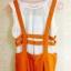 ชุดเสื้อผ้าแฟชั่น 2 ชิ้น เสื้อสีขาวแขนกุด+กางเกงขายาว(มีสายเอี๊ยม)ตามภาพคะ สีเหลืองเข้ม ไซส์ M thumbnail 2