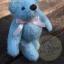 ตุ๊กตาหมีผ้าขนสีฟ้าขนาด 12 cm. - Bess thumbnail 5