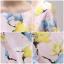 ชุดเดรสผ้าซาตินซิลพิมพ์ลายดอกไม้ กระโปรงเป็นทรงบาน thumbnail 3