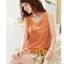 ชุดเดรสแฟชั่น 2 ชิ้น เสื้อสายเดี่ยวลายดอกไม้ เสื้อนอกสีส้มผ้าซีฟอง(ตามภาพ) thumbnail 3