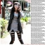 RJ.Story เลคกิ้ง/กางเกงแต่งลายขาดสีดำเนื้อผ้าเป็นมันคล้ายหนัง thumbnail 5