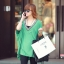 เสื้อแฟชั่นแต่งคอวีทรงสบายสีเขียวตามแบบนะค่ะ thumbnail 3