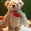 ตุ๊กตาหมีผ้าขน wool สีน้ำตาลอ่อนขนาด 19 cm. - Lilac (ผ้าจากประเทศเยอรมัน) thumbnail 6