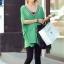 เสื้อแฟชั่นแต่งคอวีทรงสบายสีเขียวตามแบบนะค่ะ thumbnail 7