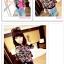 Qzsn เสื้อคลุมแฟชั่น แขนยาวพิมพ์ลายการ์ตูน สีดำ thumbnail 3